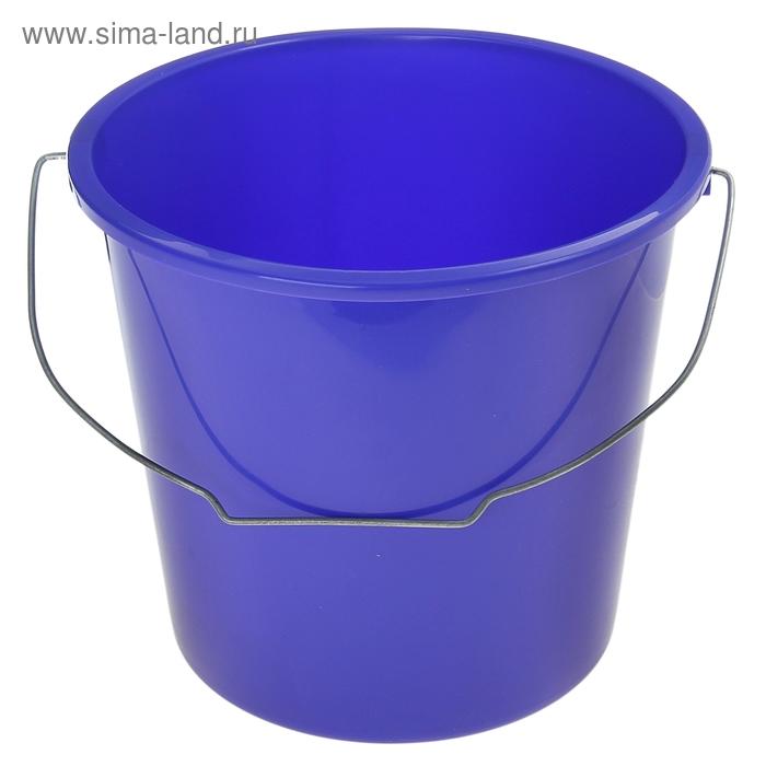 Ведро 10 л, без крышки, металлическая ручка, цвет лазурно-синий