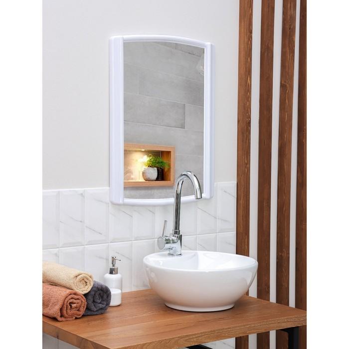 "Зеркало ""Бордо"", цвет снежно-белый"
