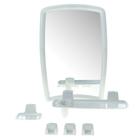 Набор для ванной комнаты Berossi 41, цвет белый мрамор