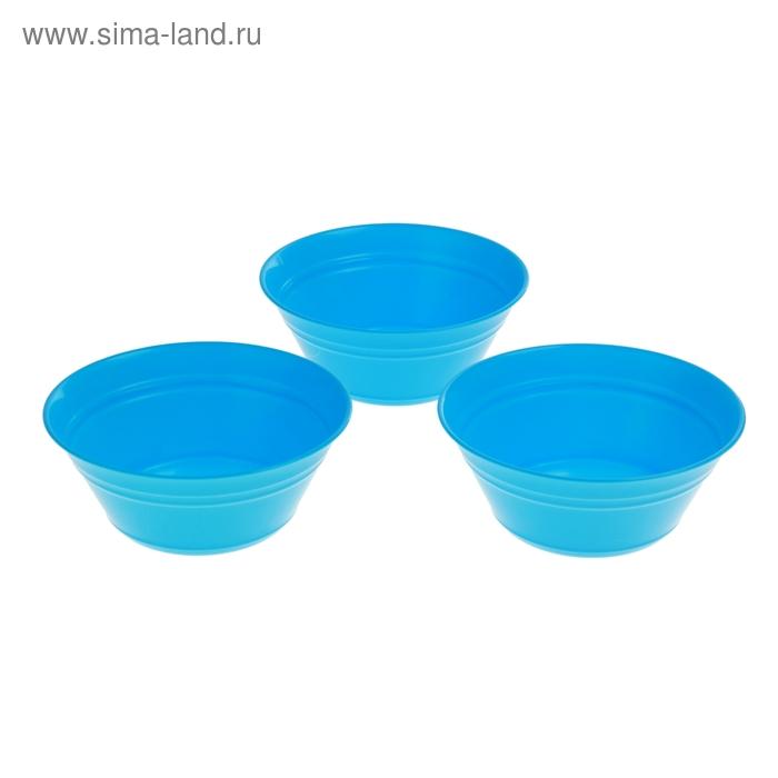 Набор салатников Patio , 3 шт 1 л, голубая лагуна