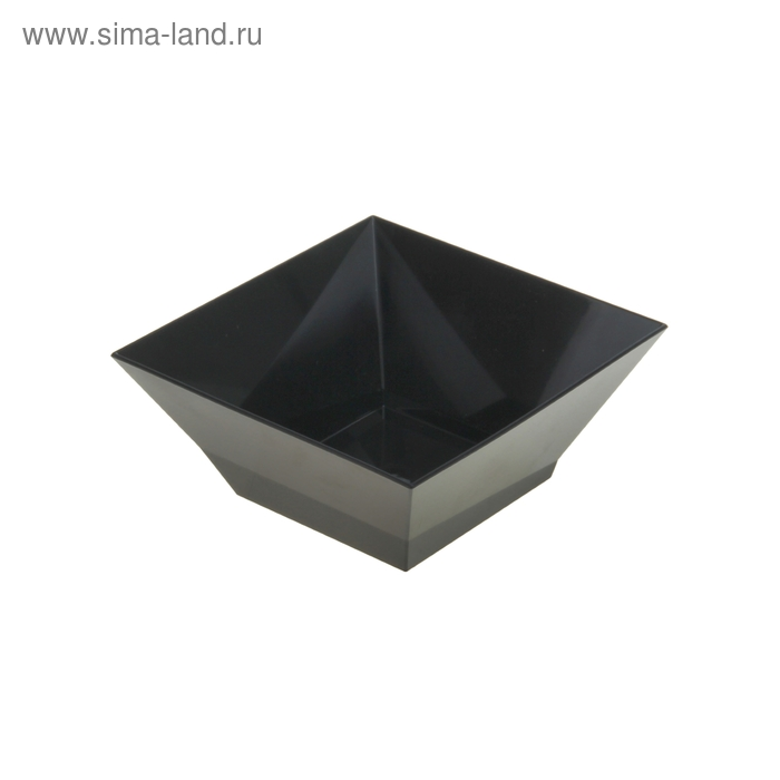 Салатник Domino kvadro 0,7 л, черный