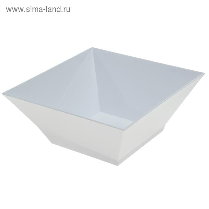 Салатник Domino kvadro 1,4 л, снежно-белый