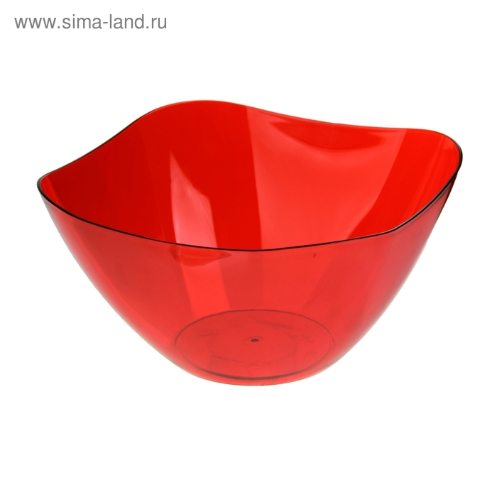 Салатник 2 л Ice, цвет красный полупрозрачный