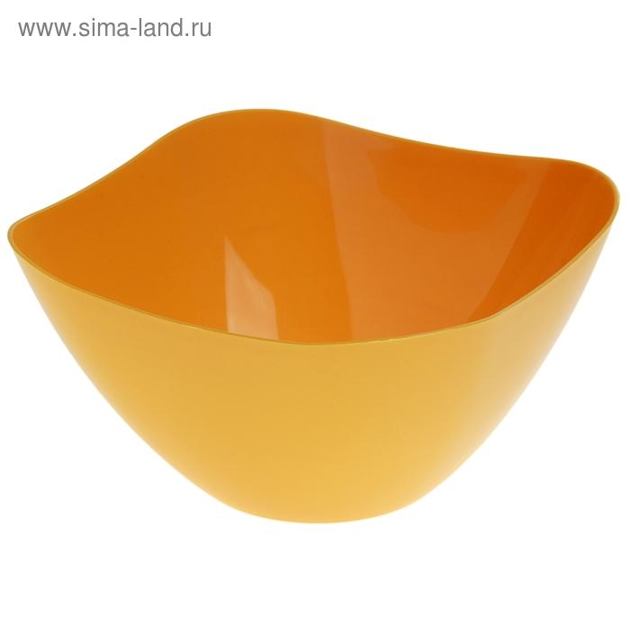 Салатник 2 л Funny, желтый