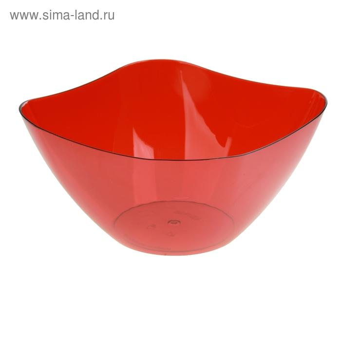 Салатник 3 л Ice, цвет красный полупрозрачный