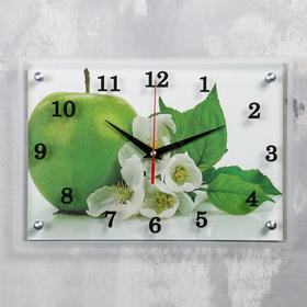 """Часы настенные прямоугольные """"Яблоко"""", 25х35 см"""