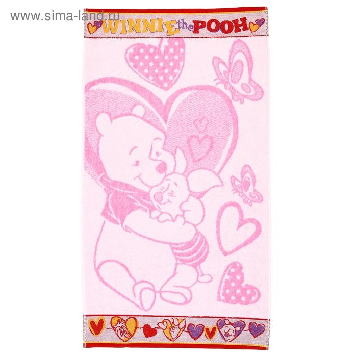 Полотенце махровое Disney Friends Winnie the Pooh 50х90 см, 100% хлопок, 460 гр/м2