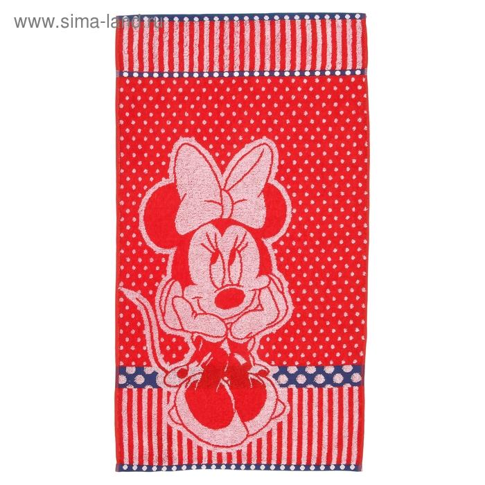Полотенце махровое Disney Miss Minnie 50х90 см, 100% хлопок, 460 гр/м2