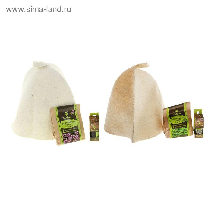Набор для бани и сауны Ароматерапия  (шапка, масло, запарка)
