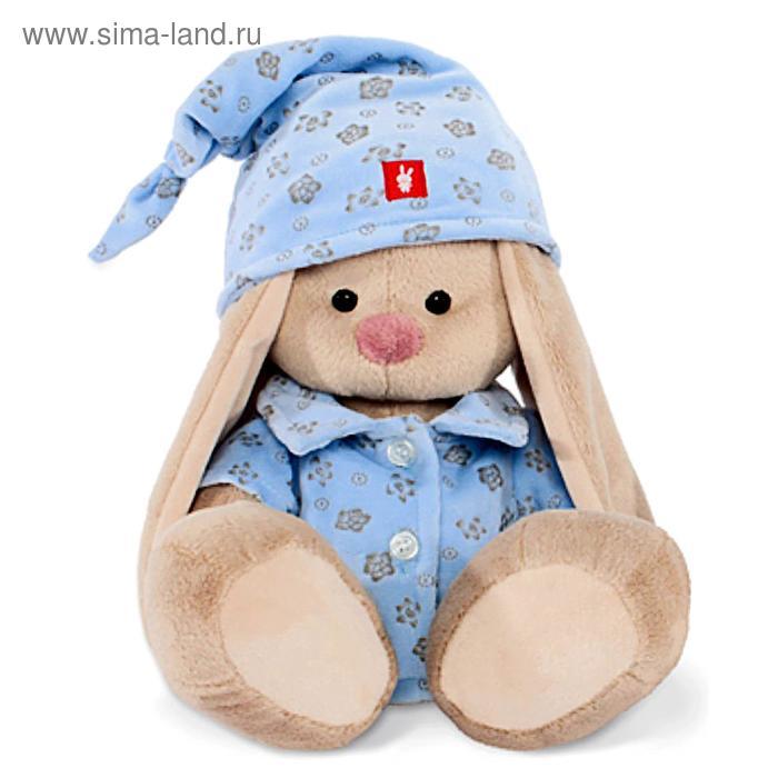 Мягкая игрушка «Зайка Ми» в голубой пижаме, 18 см