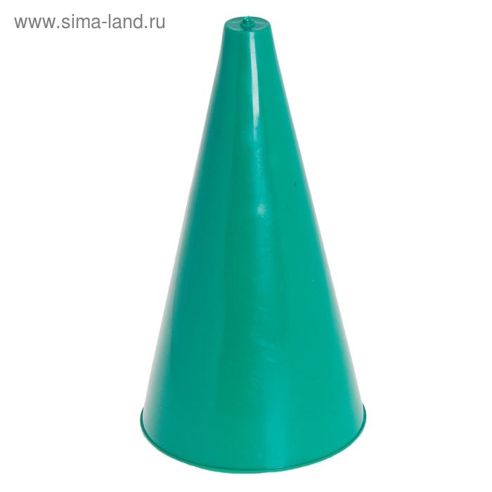 Конус для разметки полей и трасс, h=24 см, цвет зелёный