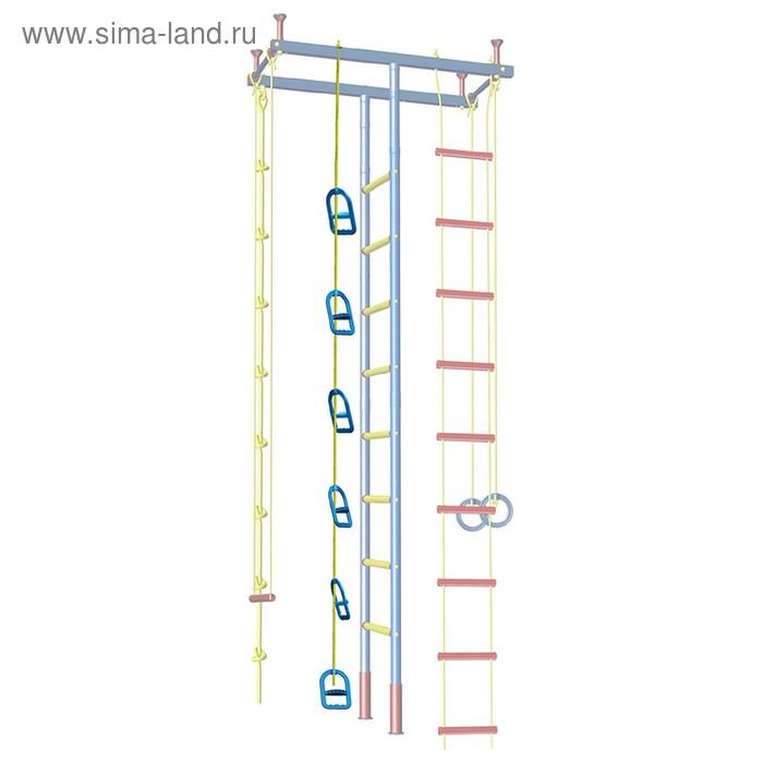 Лестница одноверевочная Leco-IT+6 ручек-креплений, высота 2,4 м, вес 0,4 кг