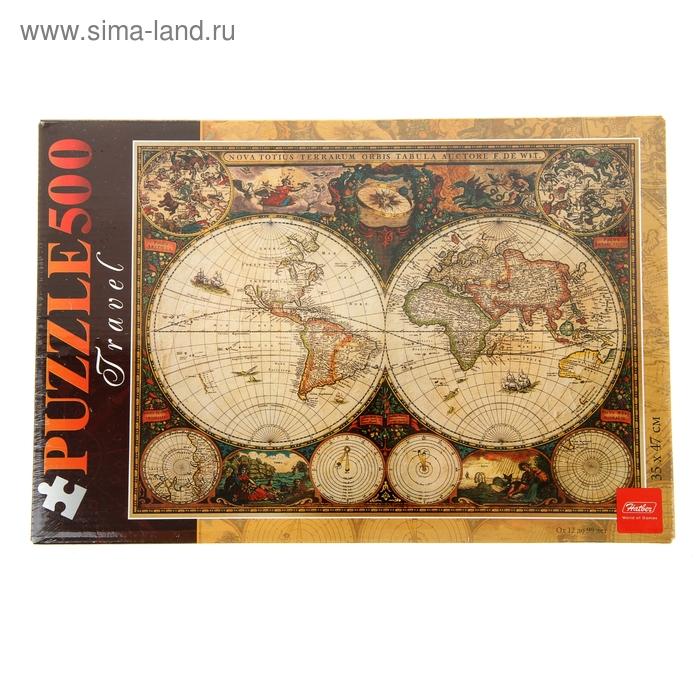"""Пазлы """"Старинная карта 1660 года"""" 500 элементов 034602"""