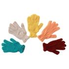 Перчатки вязаные одинарные цветные с13 размер 16, МИКС