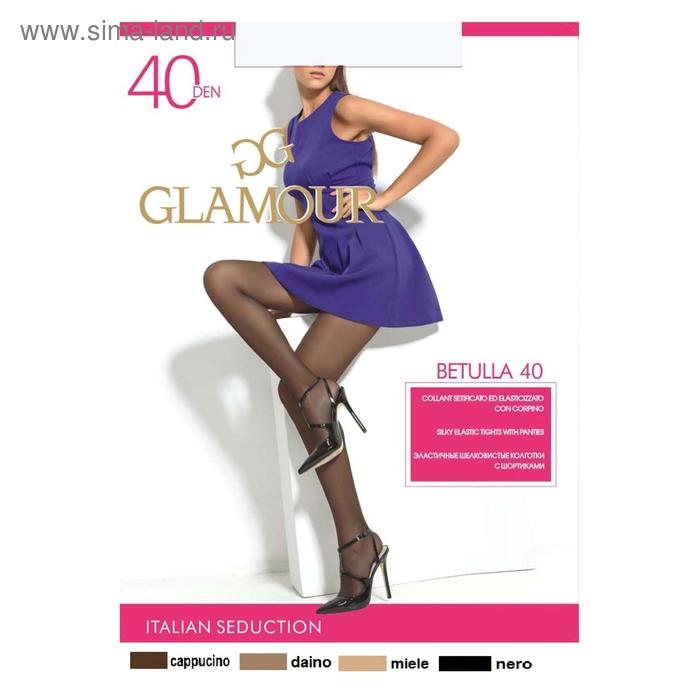 Колготки женские GLAMOUR Betulla 40 (nero, 3)