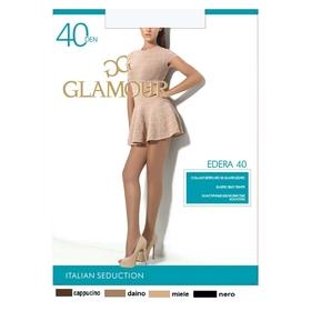 Колготки женские GLAMOUR Edera 40 (nero, 4)