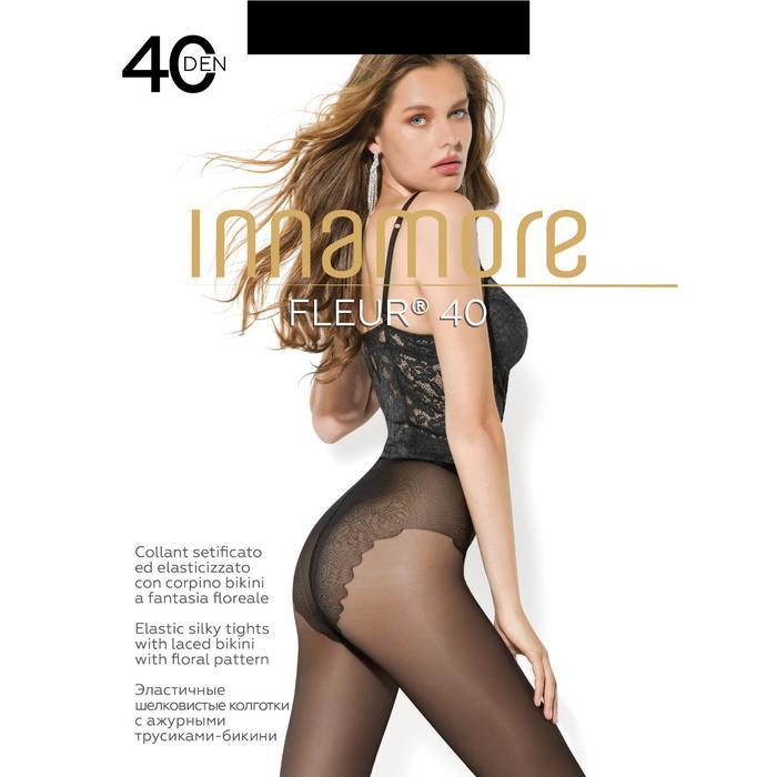Колготки женские INNAMORE Fleur 40 (nero, 4)
