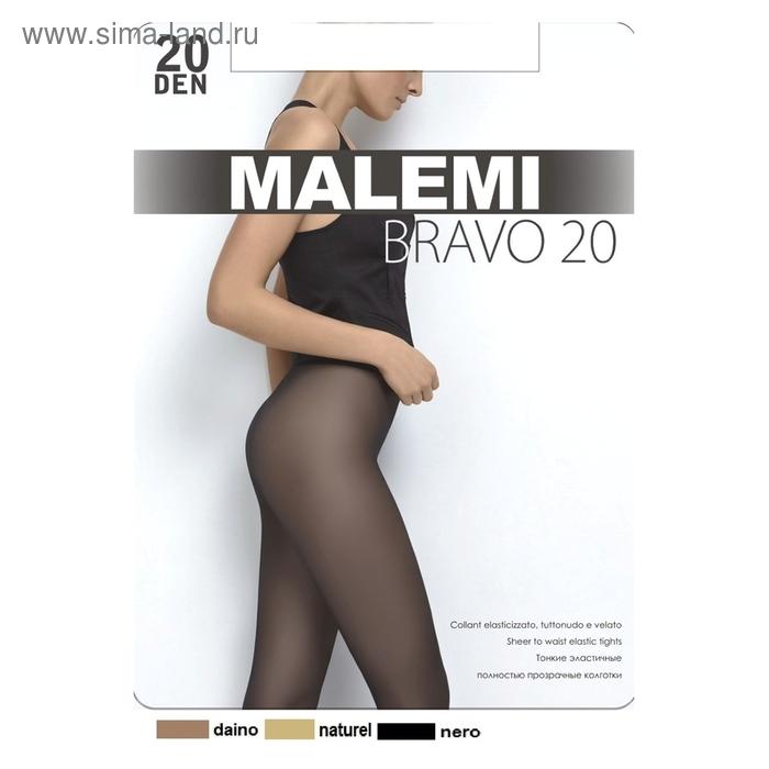 Колготки женские MALEMI, цвет daino (загар), размер 3 (арт. Bravo 20)