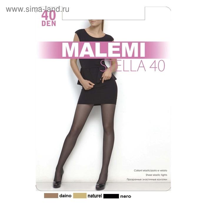 Колготки женские MALEMI, цвет nero (чёрный), размер 2 (арт. Stella 40)