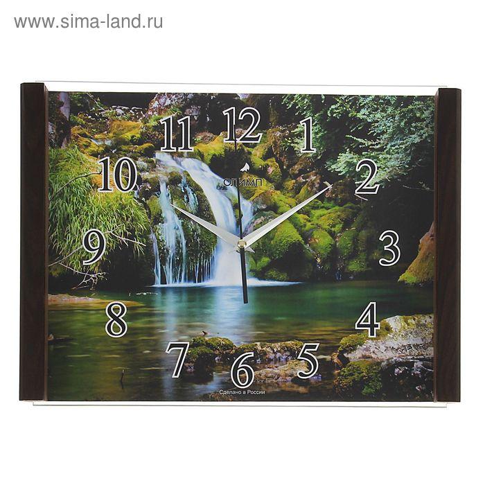 """Часы настенные прямоугольные """"Олимп"""" водопад"""