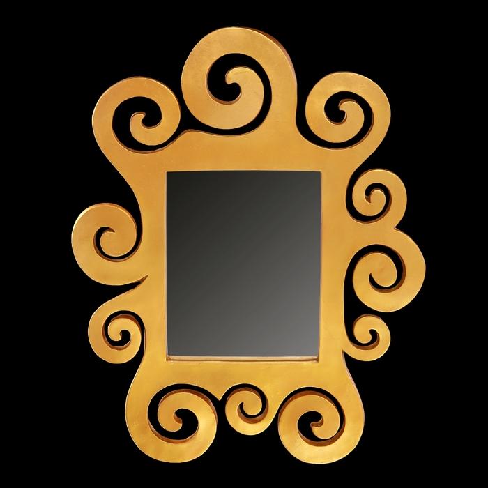 """Зеркало настенное """"Густав Климт"""", желтое золото"""