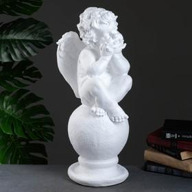 Статуэтка «Ангел на шаре» белая, 22 × 22 × 65 см