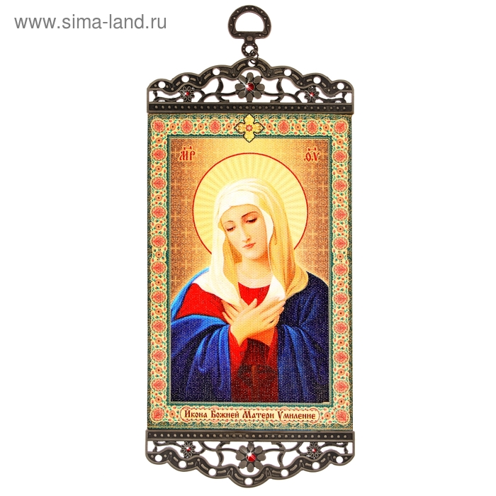 "Икона-хоругвия ""Икона Божьей Матери Умиление"" на подвесе"
