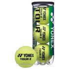Мяч теннисный Yonex Tour, набор 3 штуки, одобрено ITF и FFT, натуральная резина, сукно