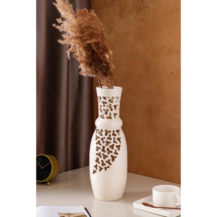 """Ваза """"Эквилибриум"""" цветы, коричнево-золотая"""