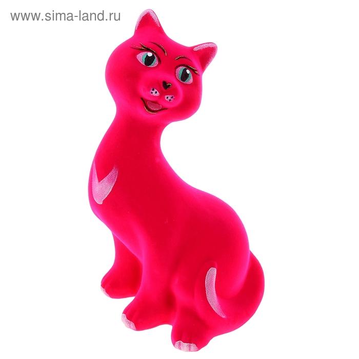 """Копилка """"Кошка Рэйчел"""" флок, розовая"""