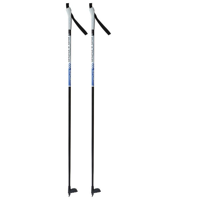 Палки лыжные стеклопластиковые TREK Classic (135 см), цвета микс