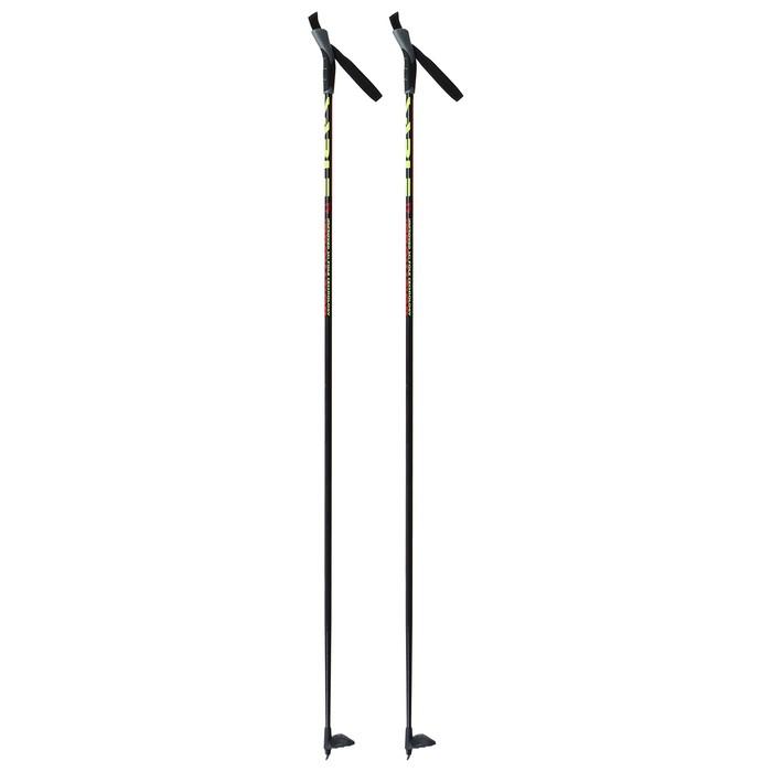 Палки лыжные стеклопластиковые TREK Classic (155 см), цвета микс