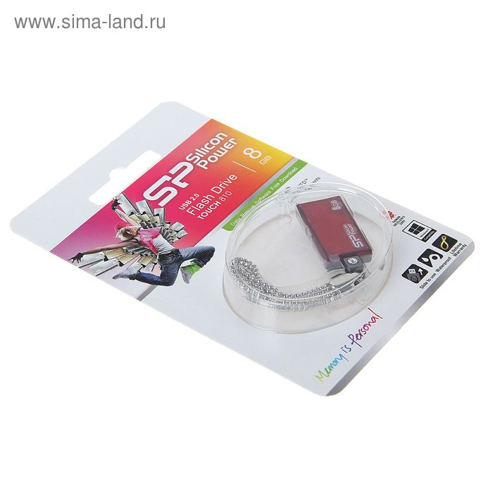 USB-флешка Silicon Power 8Gb Touch 810 USB 2.0 красный