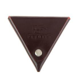 Футляр для монет на кнопке, цвет бордовый Ош