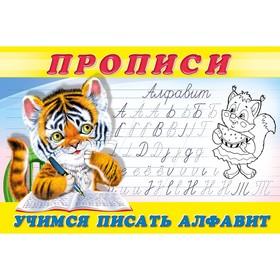 Раскраска-пропись 8. Учимся писать алфавит