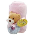 """Набор подарочный для новорождённых """"Этелька"""" 2 пр Мишка-погремушка, размер 75х100 см"""
