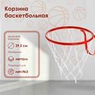 Корзина баскетбольная №3, d-295 мм, с сеткой