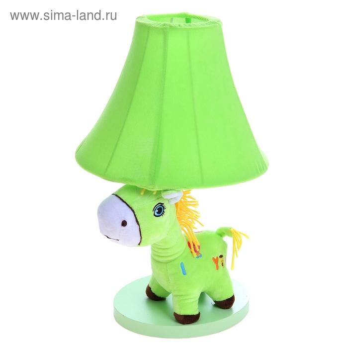 """Светильник детский """"Плюшевая зебра"""", зелёный"""