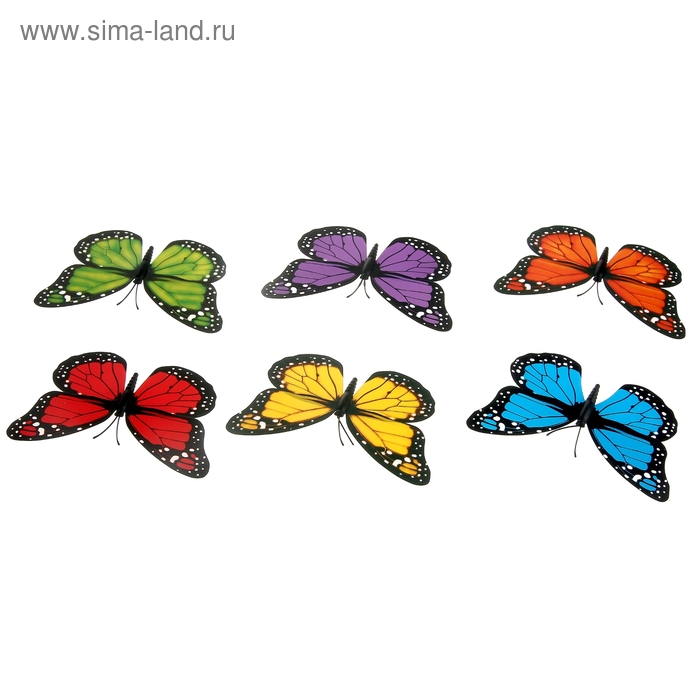 "Магнит ""Бабочка с белыми пятнышками"" МИКС"