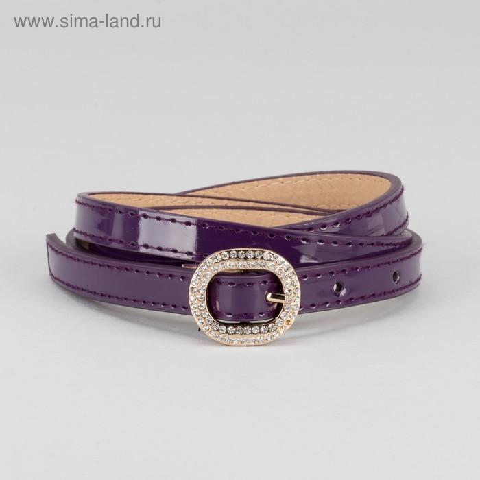 """Ремень женский """"Пэгги"""", пряжка под золото, ширина - 1см, фиолетовый"""