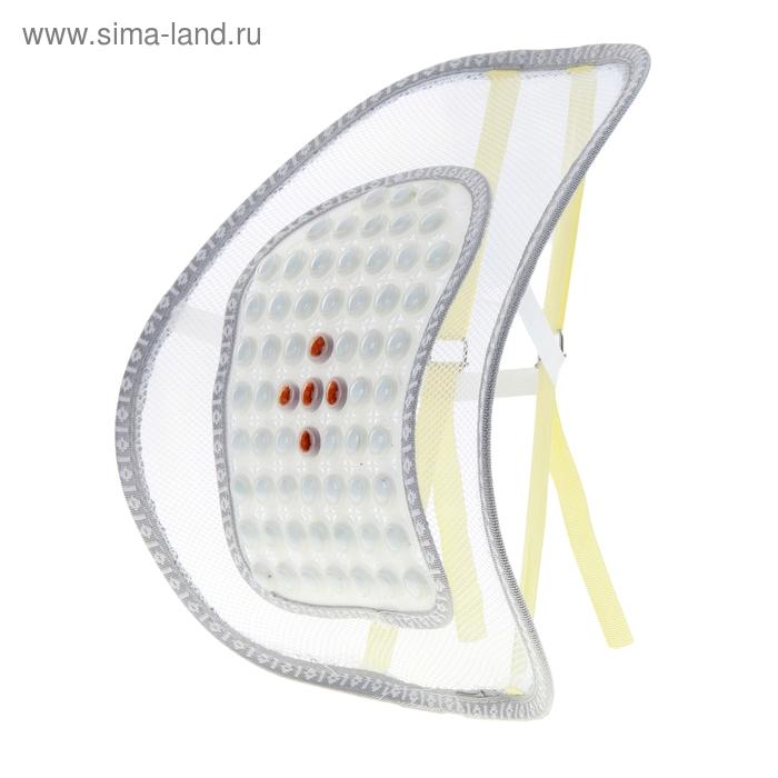 Ортопедическая спинка-подушка с массажером на сиденье 38*39 см иск. камень