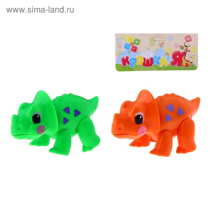 """Забавное животное """"Динозаврик"""" с подвижными лапами, головой, хвостиком, цвета МИКС"""