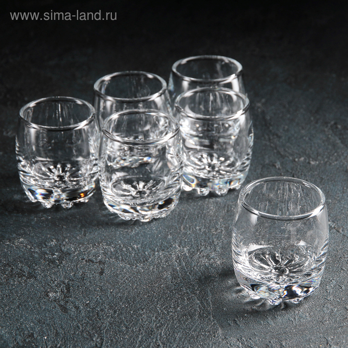 "Набор стопок для водки 80 мл ""Сильвана"", 6 шт"