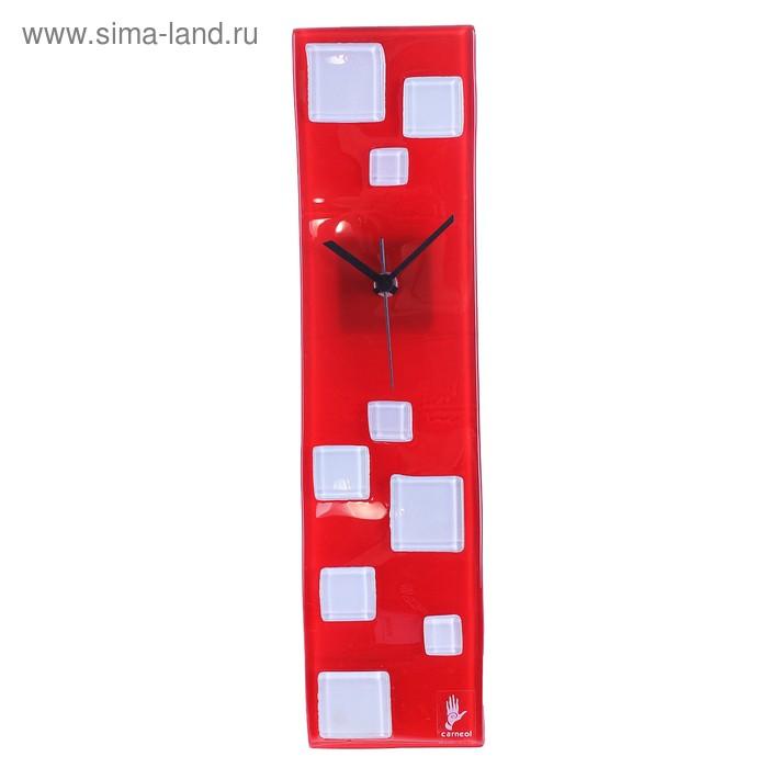 """Часы настенные """"Кубики"""", красные"""