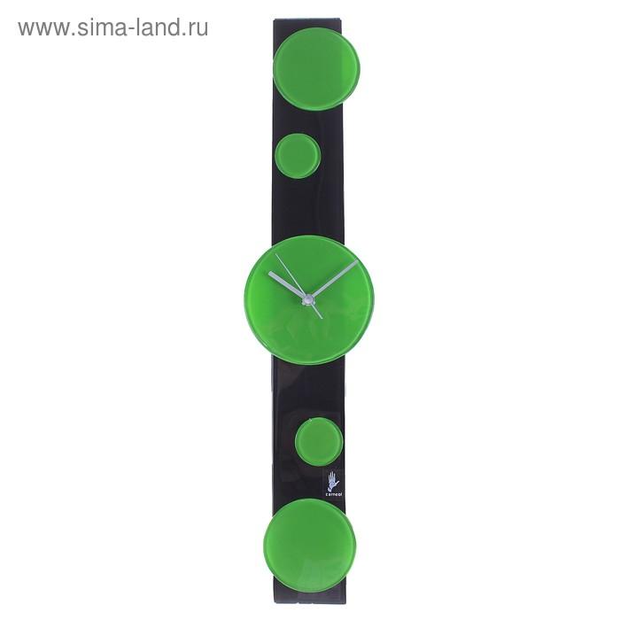 """Часы настенные """"Круг"""" зеленые"""