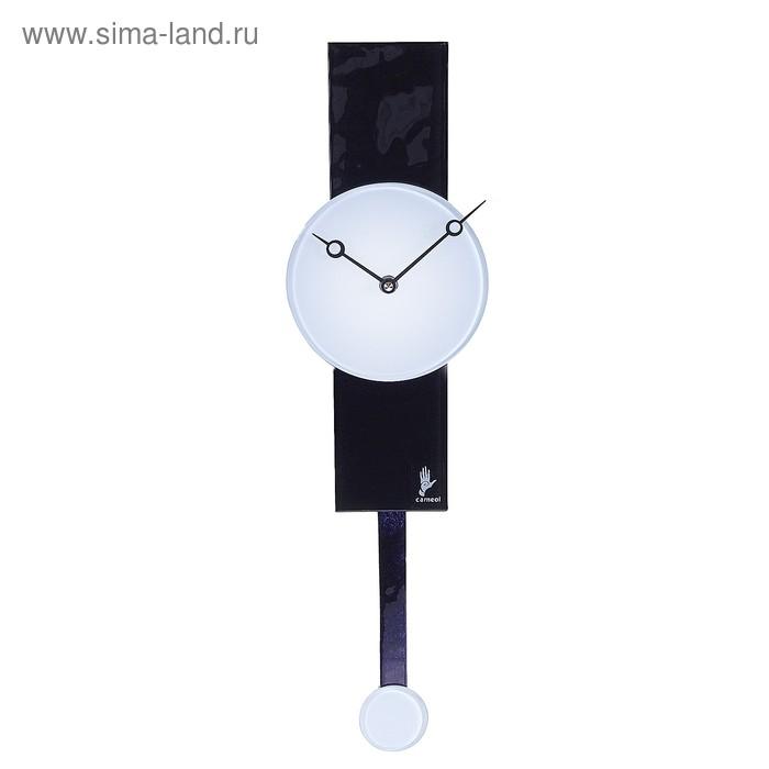"""Часы настенные с маятником """"Черное и белое"""""""