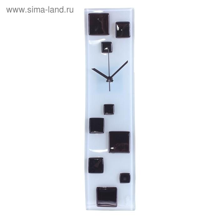 """Часы настенные """"Кубики"""", голубой оттенок"""