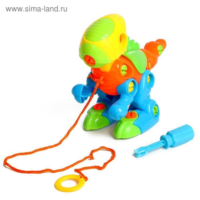 """Конструктор для малышей """"Динозаврик"""", с отвёрткой, 38 деталей"""
