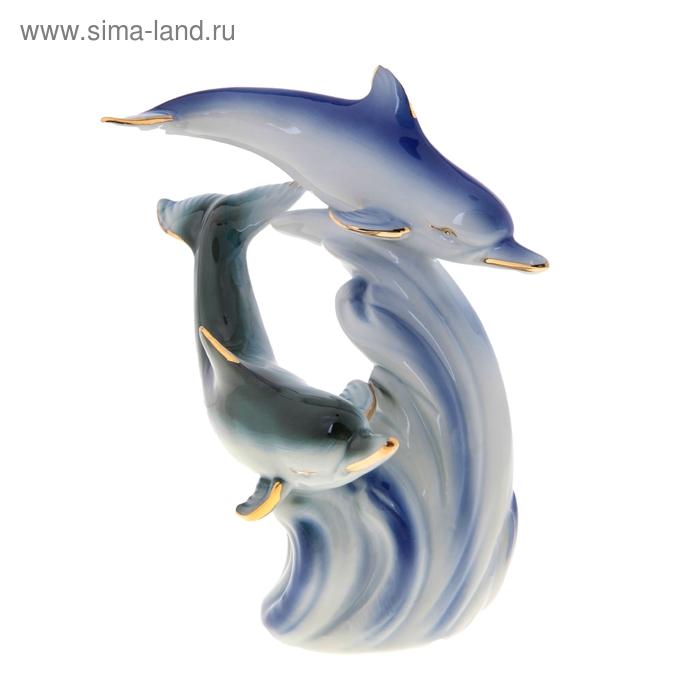"""Сувенир """"Два дельфина на волне"""", микс"""
