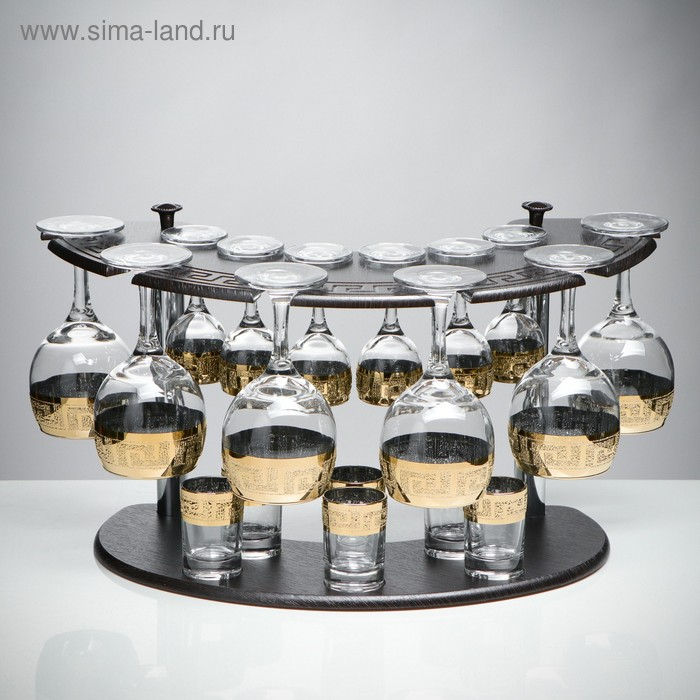 "Мини-бар ""Кристалл"" 18 предметов, под вино 290 мл/ 50 мл/ 60 мл"
